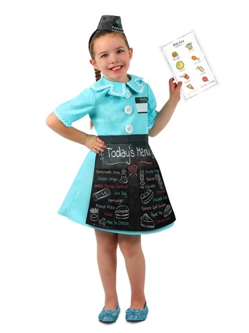 Girl's Play Waitress Dress-up Set