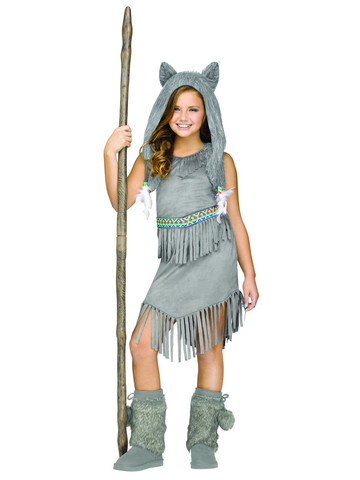 Girls Wolf Dancer Costume
