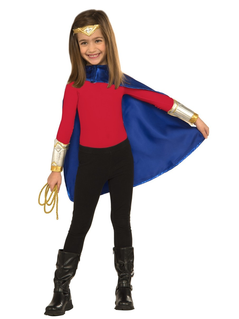 View larger image of Wonder Woman Dress-up Costume Deluxe for Girls