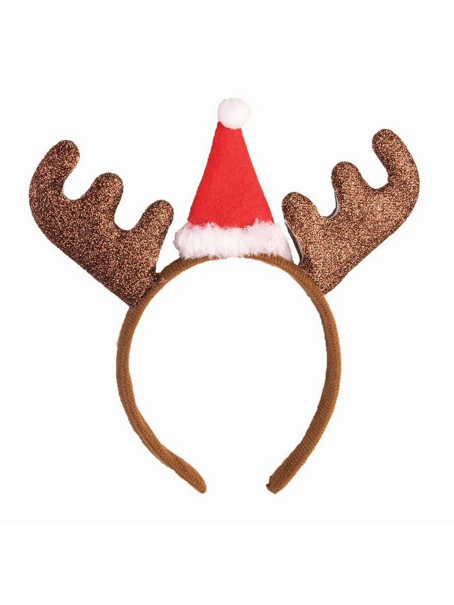 View larger image of Glitter Reindeer Headband Accessory
