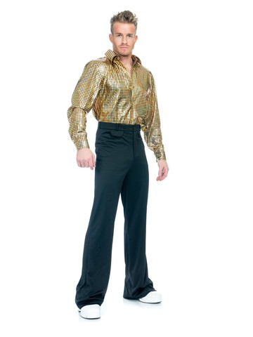 Gold Hologram Disco Dude Costume for Adults