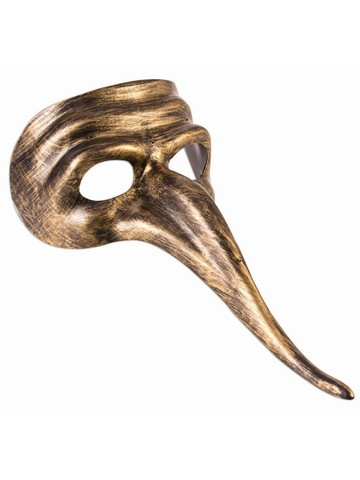 Gold Long Nose Adult Mask