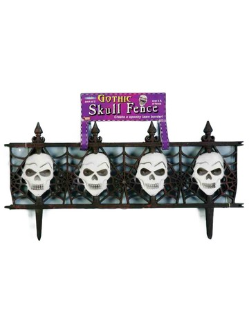 Super Creepy Gothic Skull Fence