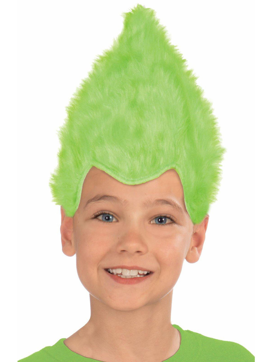 View larger image of Kids Green Fuzzy Wig