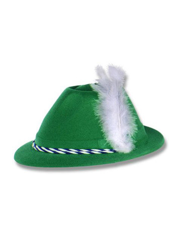 Green Velour Tyrolean Hat Adult