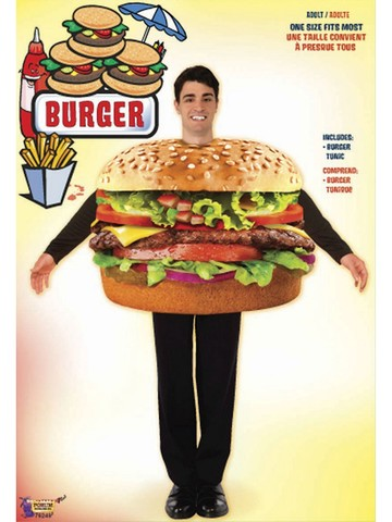 Hamburger Adult Costume