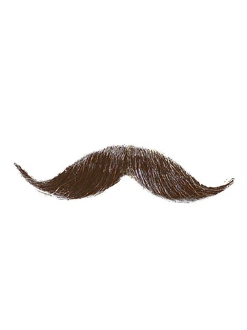 Handlebar Moustache Accessory - Medium Brown