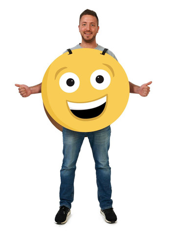 Happy/Sad 2-Sided Cardboard Emoji Costume