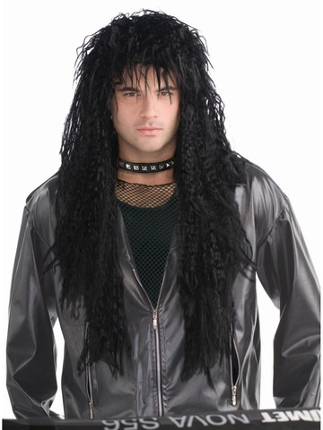 Black Hard Rock Wig