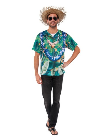 Adult Hawaiian Men's Shirt Costume