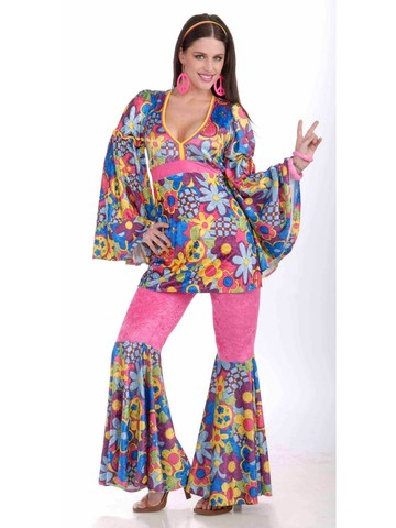 Hippy Flower Child Adult Costume