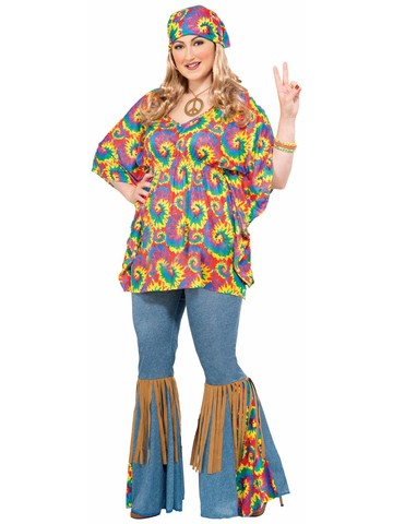 Hippie Chick Adult Plus Costume