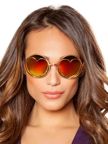 Hippie Glasses with Heart Lens Frame