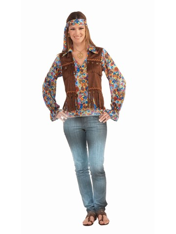 Hippie Groovy Set Costume Female