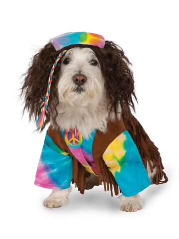 Pet Groovy Hippie Costume