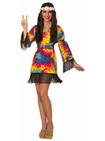 Hippie Adult Tie Dye Dress