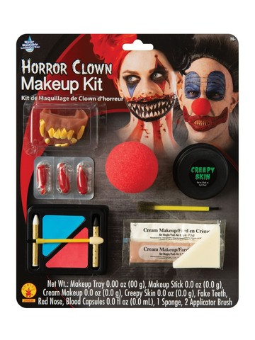 Horror Clown Make-Up Kit Accessory