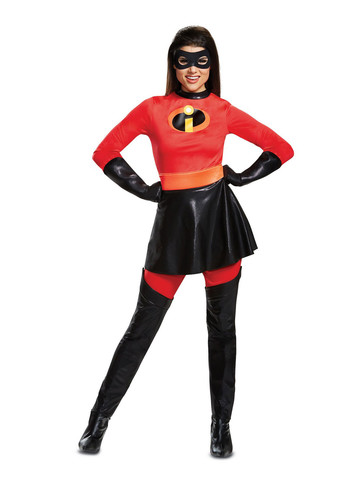 Incredibles 2 Deluxe Mrs. Incredible Adult Costume with Skirt