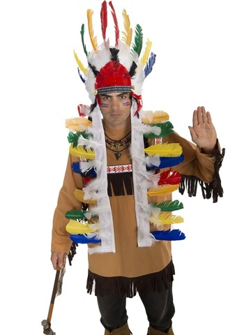 Deluxed Feathered Native American Headress