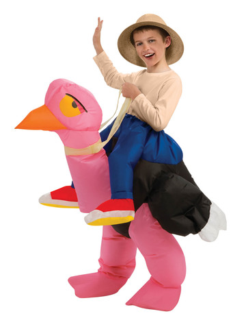 Ride On - Ostrich - Inflatable Childrens Costume