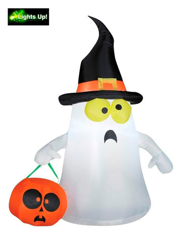Inflatable Trick Or Treat Ghost Lawn Decoration