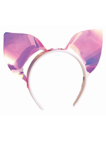 Iridescent Vinyl Cat Ear Headband