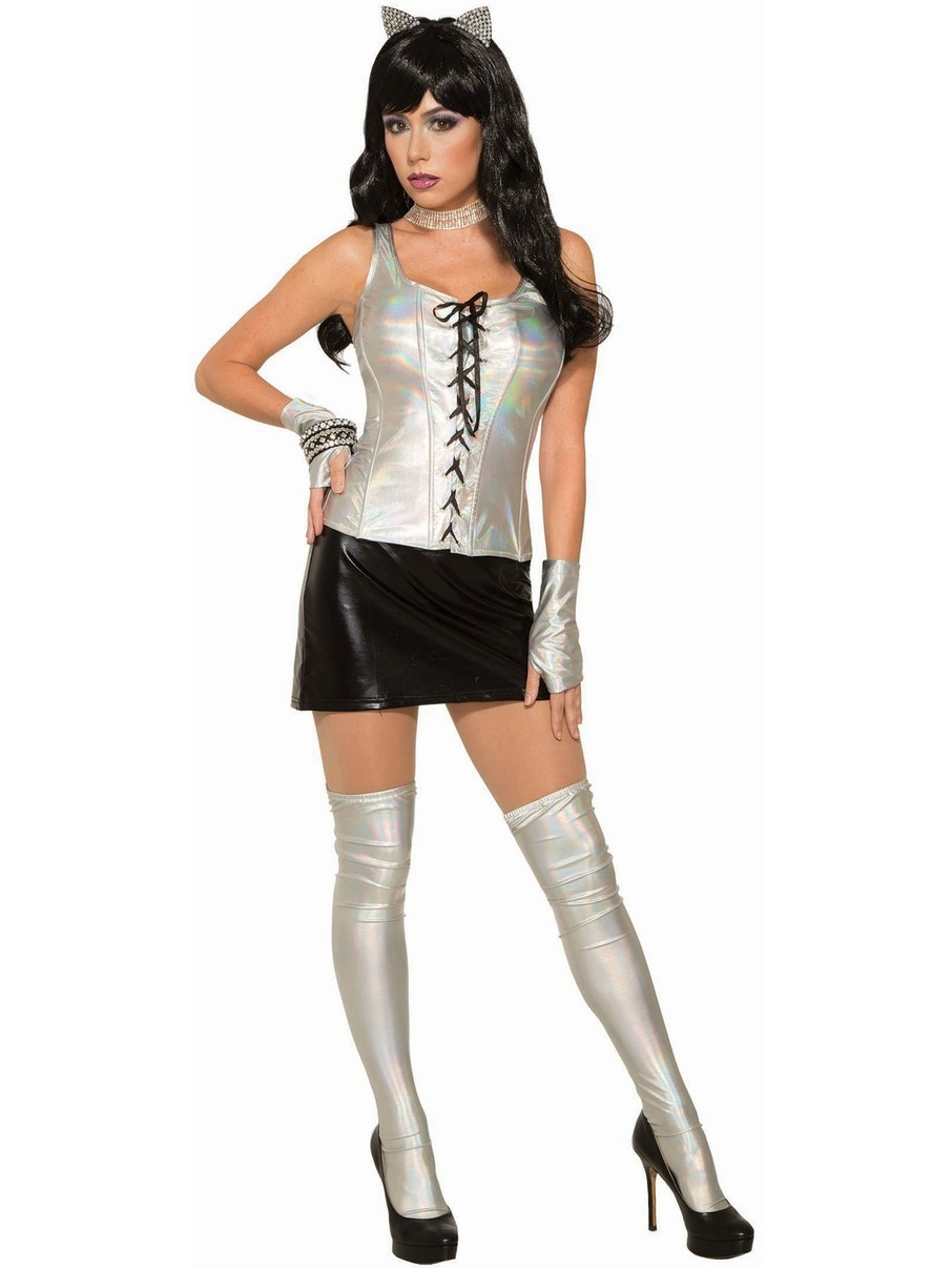 View larger image of Midnight Menagerie Womens Silver Holographic Corset
