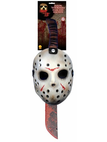 Machete and Mask Adult Jason Costume Set