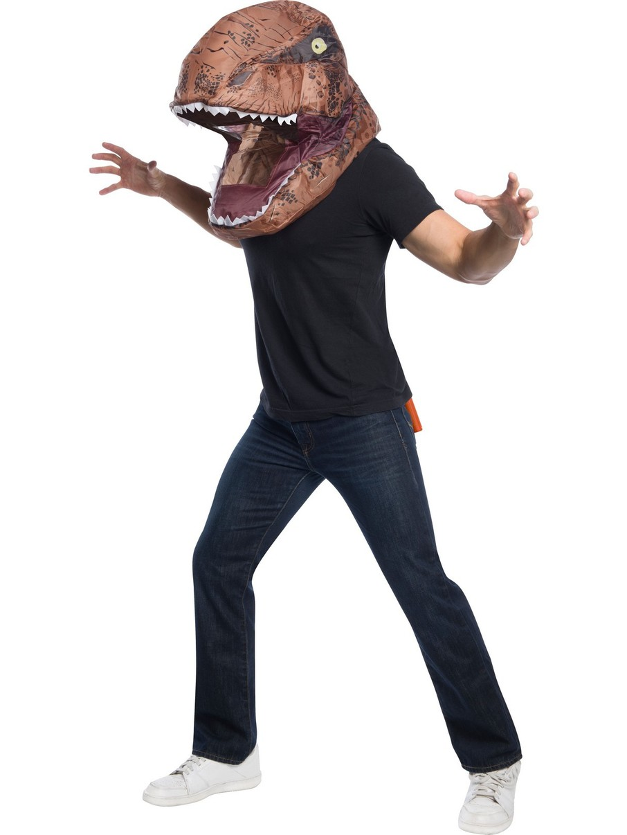 View larger image of Jurassic World Adult T-Rex Inflatable Air Head Mask