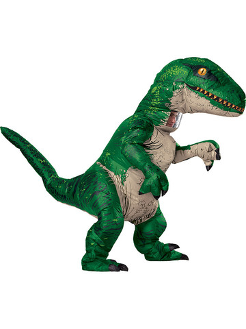 Jurassic World: Fallen Kingdom Mens Inflatable Raptor Costume With Sound Box