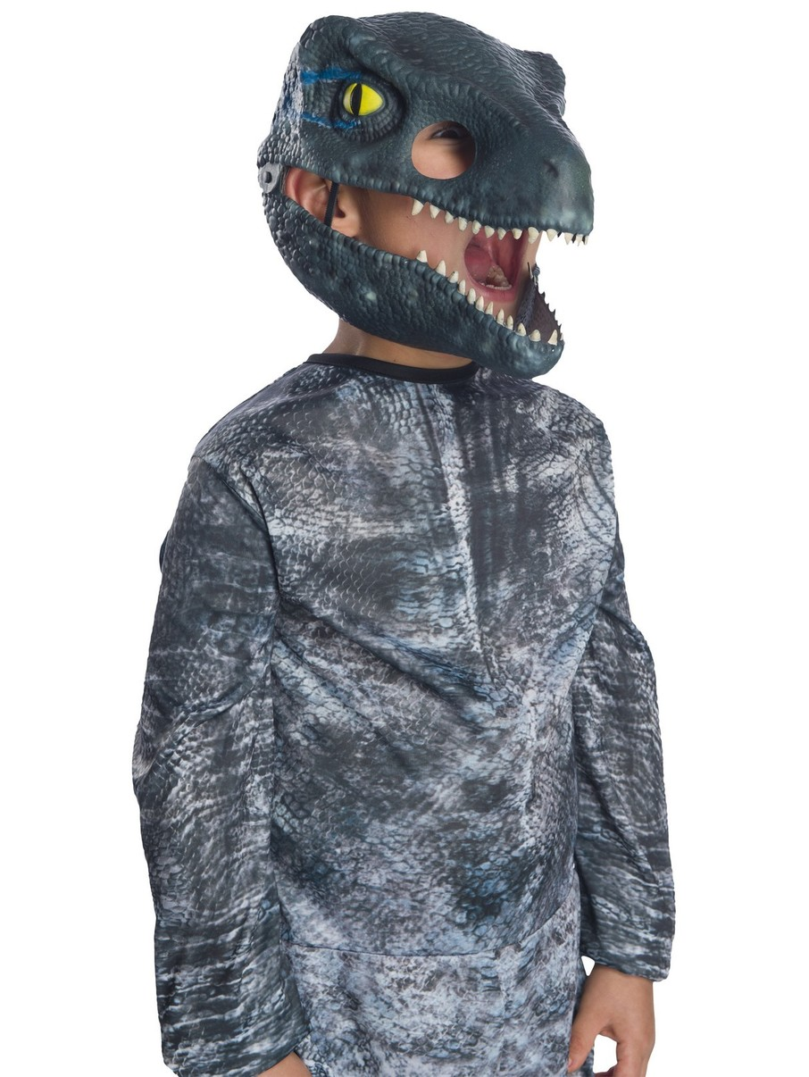 View larger image of Jurassic World: Fallen Kingdom Velociraptor Movable Jaw Kids Mask