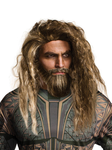 Aquaman Movie Adult Aquaman Beard and Wig Set Accessories
