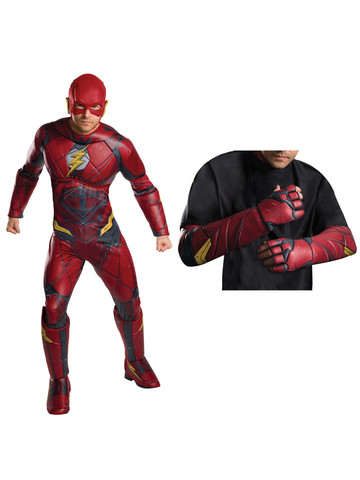 Justice League Movie - Flash Deluxe Mens Costume Kit