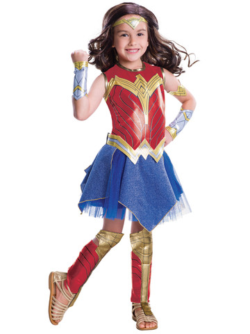 Kids Justice League Movie - Wonder Woman Costume Deluxe