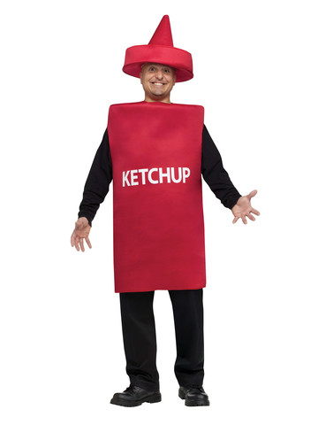 Adult Ketchup Squeeze Bottle Costume