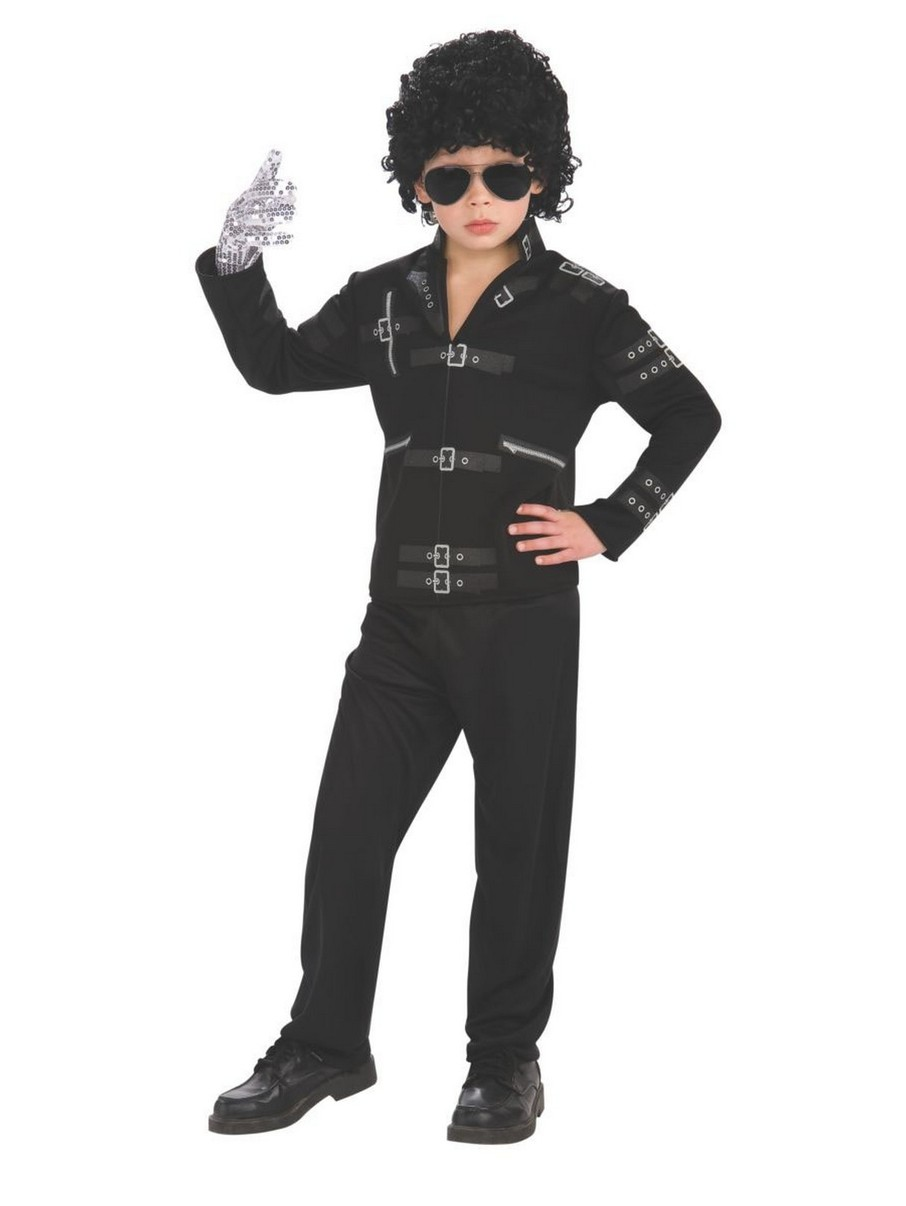 "View larger image of Michael Jackson Black Buckle ""Bad"" Jacket for Kids"