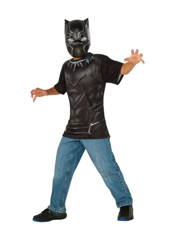 Black Panther Kids Costume Top and Mask