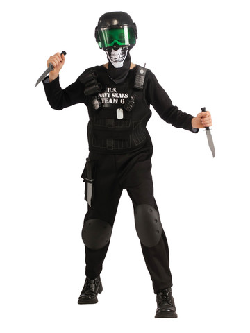SEAL Team 6 - Black - Childrens Costume