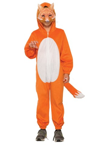 Kid's Fox Halloween Costume Jumpsuit and Mask