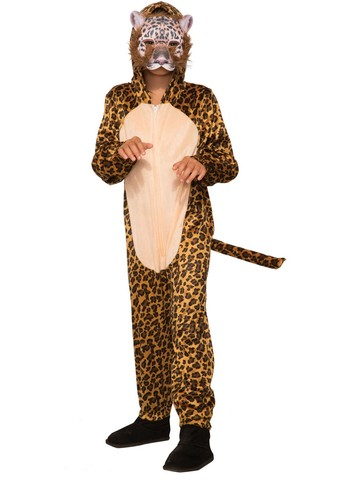Kid's Leopard Halloween Costume Jumpsuit and Mask