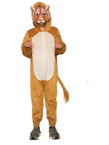 Kid's Lion Halloween Costume Jumpsuit and Mask
