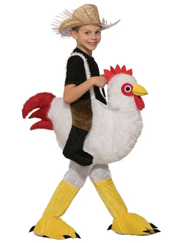 Kid's Giant Chicken Rider
