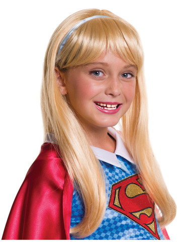 Kids Supergirl Hairpiece Wig