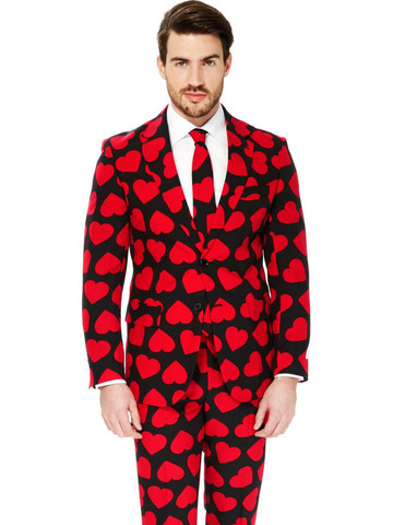 King of Hearts Suit Mens Opposuit