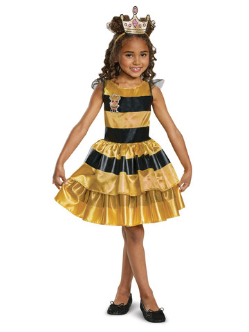 L.O.L Dolls: Queen Bee Classic Girls Costume