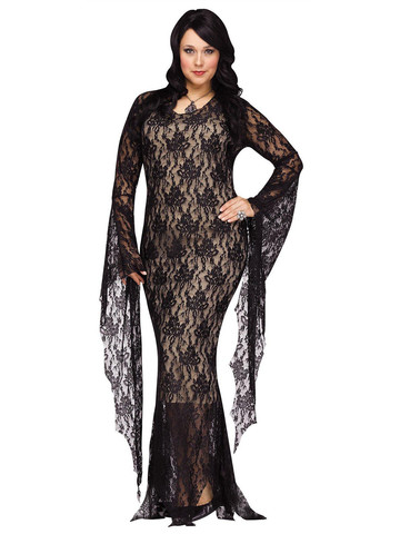 Plus SizeLace Morticia Plus Costume