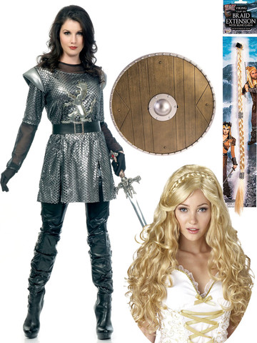 Ladies Viking Knight Costume Kit