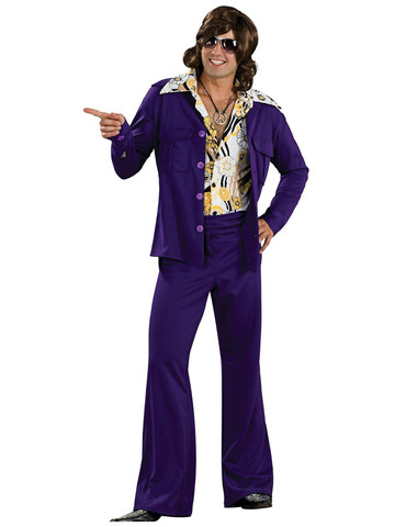 Leisure Suit Deluxe (Purple) Adult Costume