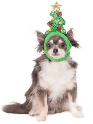 Light Up Christmas Tree Hat Accessory For Pets