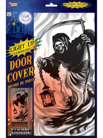 Light Up Door Cover Reaper Decoration